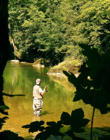Pêche sur la rivière de l'albarine