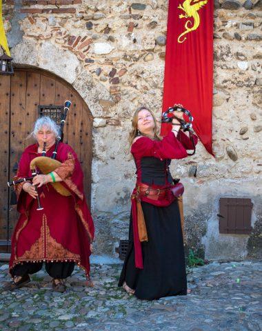 musique à la fête médiévale de Pérouges | Jérôme Chabanne