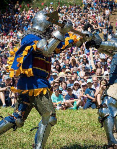 Combat médiéval à la fête de Pérouges