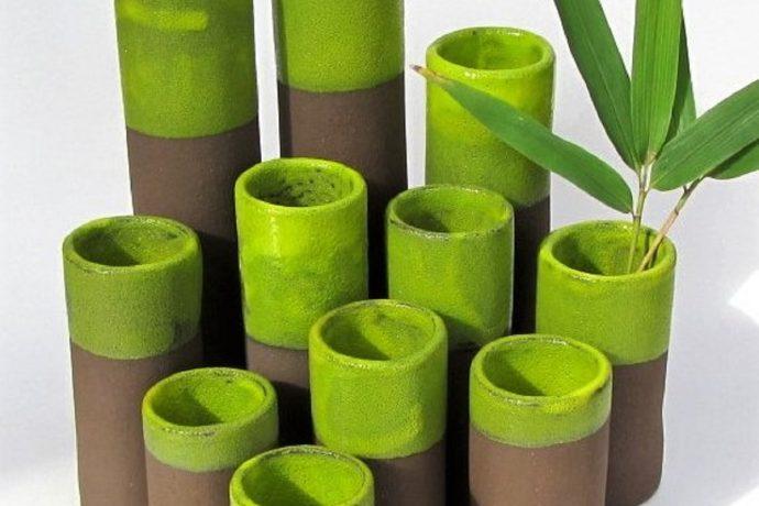 Saskia Lauth: Vases de la série «Bambou»