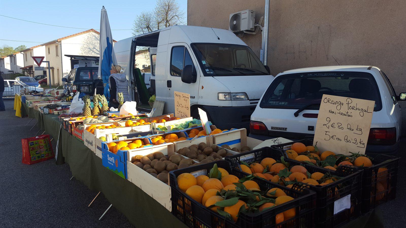 Stand fruits et légumes