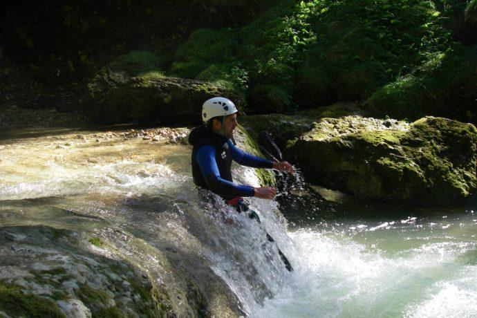 Canyoning avec Lézard des Bois