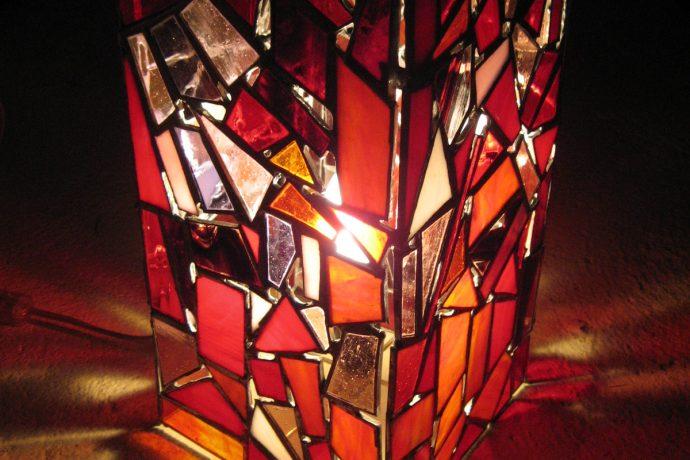 Lampe en vitrail tiffany