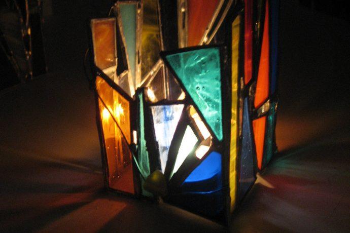 Photophore en vitrail tiffany