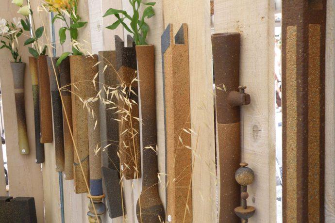 vase soliflores en poterie