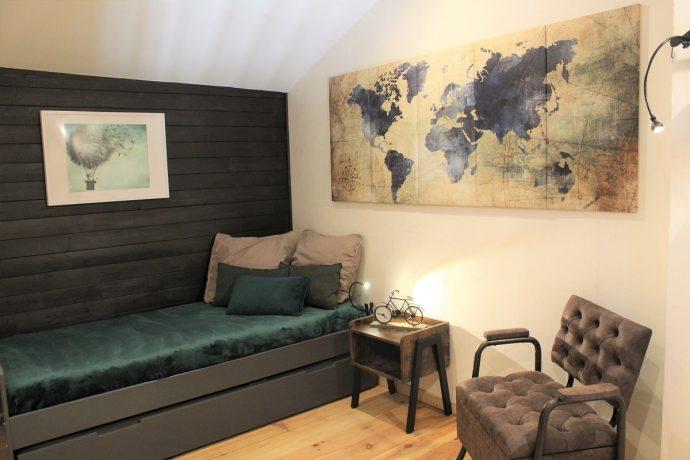 Chambre Mezzanine 1er étage avec 2 lits 90*200