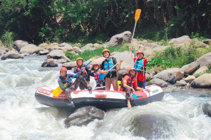 Rafting en équipe